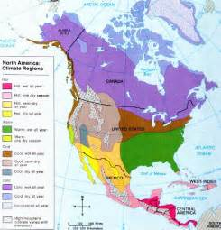 North America Climate Region Map