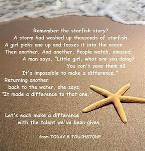 Starfish Quotes  Quotesgram