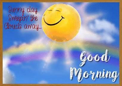 Morning Sunny Gifs Ecard Cards Greeting Sunrise