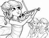 Coloring Musician Deviantart sketch template