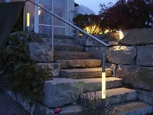 Wandeinbauleuchten Für Treppen : beleuchteter handlauf au en led acrylstab beleuchtung ~ Watch28wear.com Haus und Dekorationen