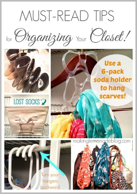 How To Organize Scarves In Your Closet by 6 Secrets For Closet Organization Tips Tricks