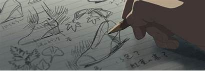 Drawing Anime Sketching Kotonoha Designing Niwa Gifs
