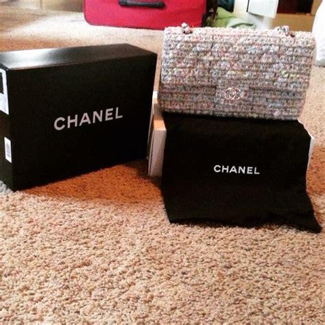 chanel chanel  tweed bag  mistys closet  poshmark