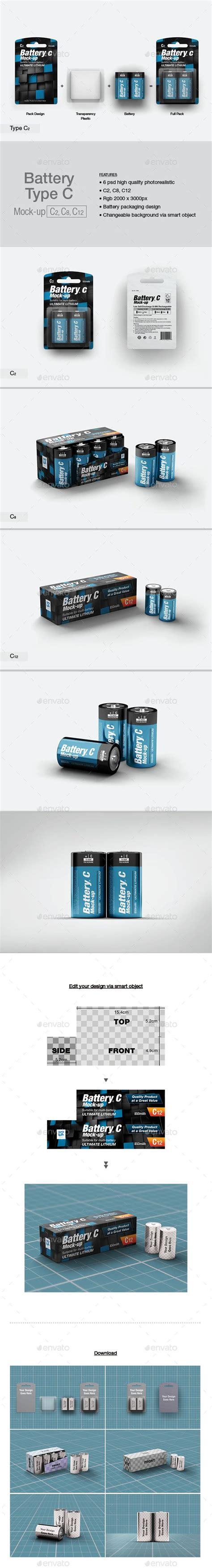 battery type  mock  graphic design templates mockup