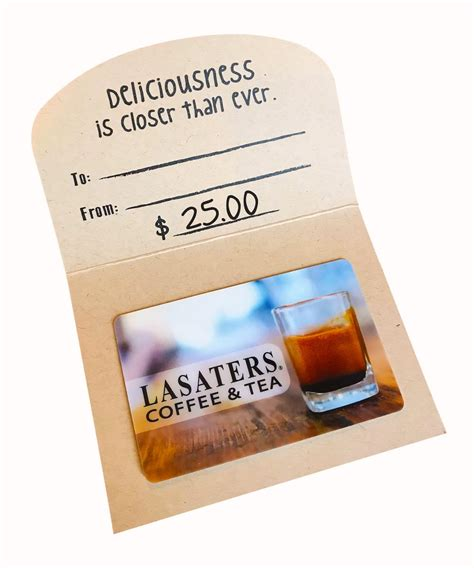 Find more information and available coffee business opportunities at franchising.com. LASATERS® $25 Gift Card - Lasaters Coffee & Tea®