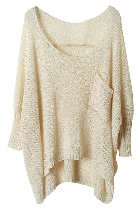 high low sweater batwing sleeve high low sweater oasap com