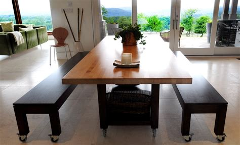 Butcher Block Dining Table With Storage On Wheels