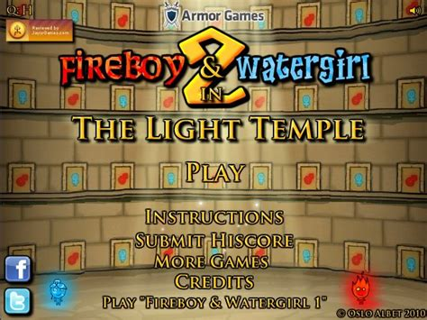 Fireboy And Watergirl Light Temple by Fireboy And Watergirl 2 The Light Temple
