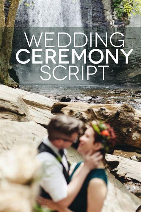 beautiful wedding ceremony script examples church