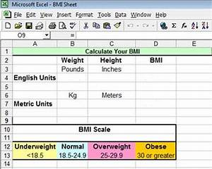 Measuring Body For Weight Loss How To Calculate Bmi In Excel Techwalla Com