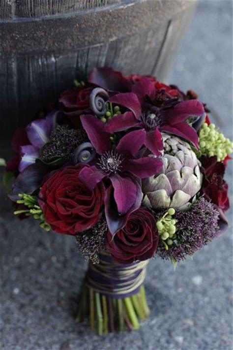 dark purple wedding color ideas  fallwinter