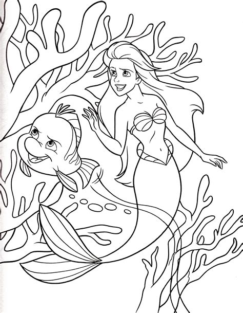 Grimsby Little Mermaid Coloring Pages Printable Coloring