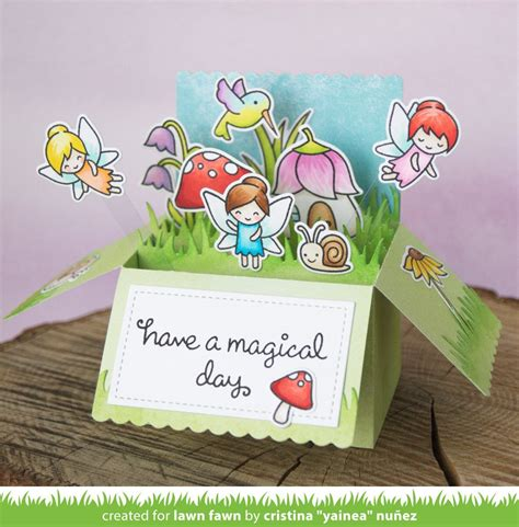 lawn fawn die scalloped box card pop