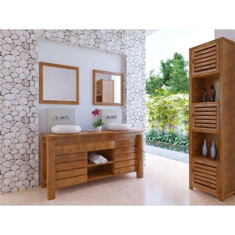 commode pour chambre meuble bas de salle de bain teck légian