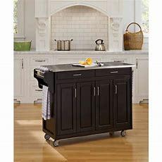 Home Styles Grand Torino Black Kitchen Island With Storage