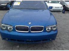 Export Salvage 2002 BMW 745 I BLUE ON BLACK