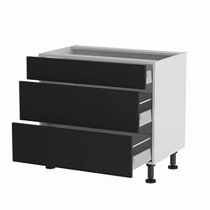 Meuble Bas A Tiroir : meuble cuisine bas 90cm 1 tiroir 2 casseroliers achat ~ Edinachiropracticcenter.com Idées de Décoration