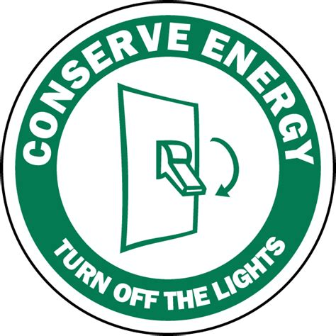 turn off the lights turn off the lights label f7519 by safetysign com