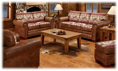 lodge collection  piece living room furniture set