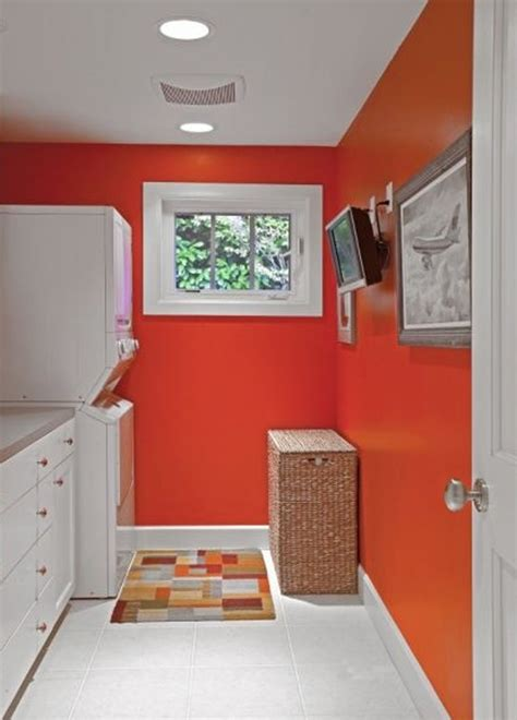 Orange And Colored Laundry Room  Best Layout 2013 Home