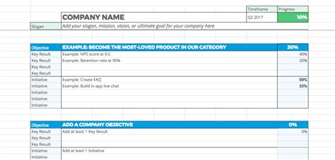 okr template a free sheets okr template to help you manage your goals