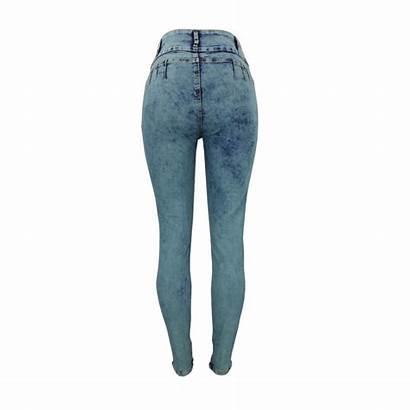 Jeans Ripped Hole Waist Denim Stretchy Pencil