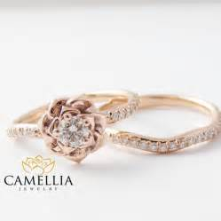 flower engagement ring 14k gold engagement ring set gold flower ring flower engagement ring 2502756