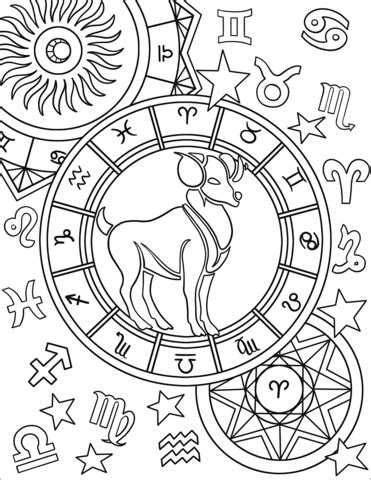 aries zodiac sign coloring page  printable coloring