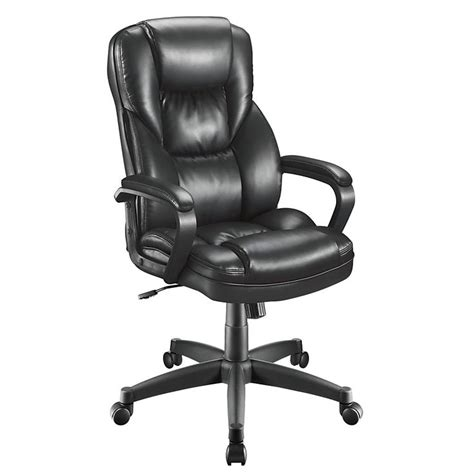 realspace fosner high back bonded leather chair 48 h x 28