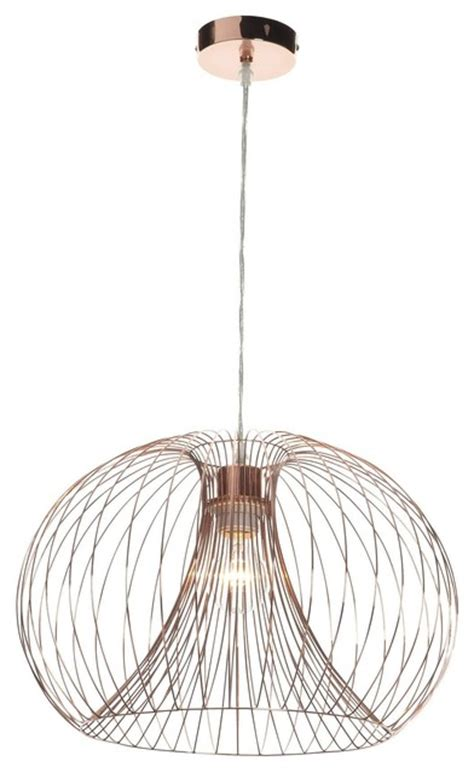 jonas copper wire ceiling light shade traditional