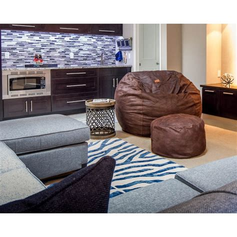 Cowhide Bean Bag by Size Coffee Faux Cowhide Bean Bag Converts To A Bed