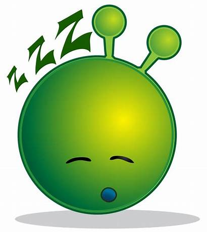 Alien Sleepy Smiley Clip Svg Clipart Vert