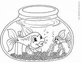 Fish Coloring Bowl Pages Fishbowl Printable Clipart Clip Outline Template Easy Kinderart Bestappsforkids Fisch Ausmalbilder Educative Getcoloringpages Empty Popular sketch template