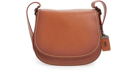Coach 1941 '23' Leather Saddle Bag In Brown