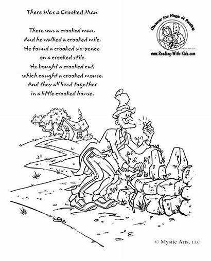 Nursery Rhyme Crooked Coloring Pages Rhymes There
