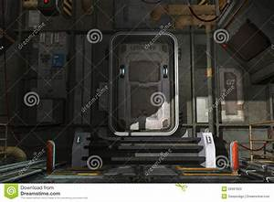 Spaceship hatch stock illustration. Image of door ...