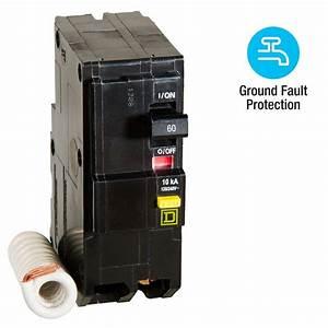 Square D Qo 60 Amp 2-pole Gfci Breaker-qo260gficp