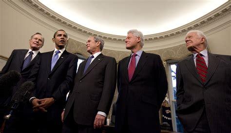 george  bush barack obama bill clinton jimmy carter