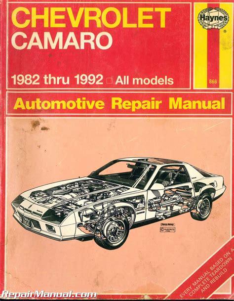 manual repair autos 1981 chevrolet camaro parking system used haynes chevrolet camaro 1982 1992 auto repair manual