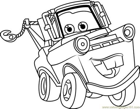 Mater Cars Coloring Pages