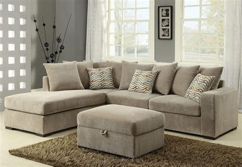 modern reversible sectional sofa  chaise chenille