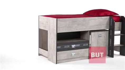 bureau but lit combiné bureau 90x190 cm authentique fabric but