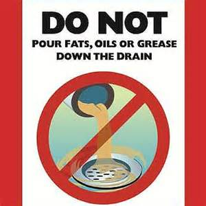 can you dump grease down the drain