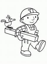 Bob Builder Coloring Printable Duty Fix Cartoon sketch template
