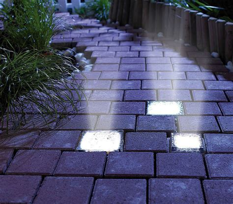 solar brick paver lights signstek solar powered path brick paver light noveltystreet