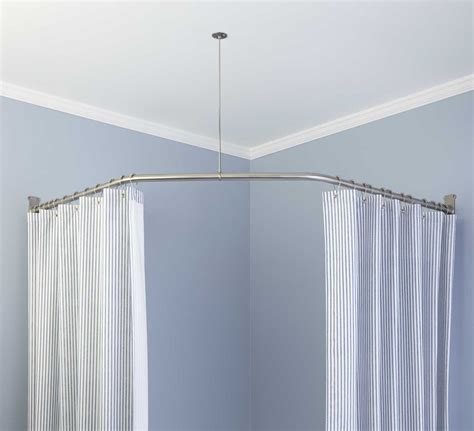 Jcpenney Curved Curtain Rod by Curtains Fabric Shower Curtains Kohl S L Shaped Shower
