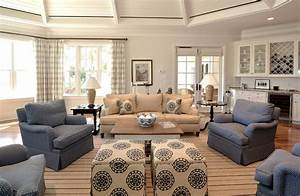 Casual elegance, easy living - Beach Style - Family Room