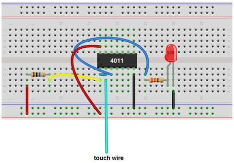 How Build Touch Sensor Circuit With Nand Gate Chip