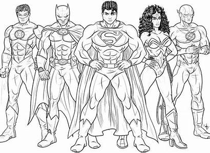 Coloring Pages Flash Justice League Library Clipart